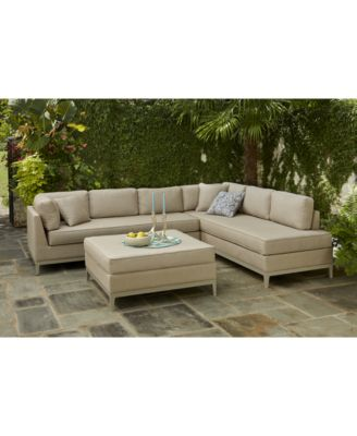 closeout! sutton place outdoor 3-pc. seating set (1 sofa, 1 chaise