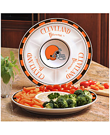 Memory Company Cleveland Browns Ceramic Round Chip & Dip Plate