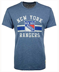 Retro Brand Men's New York Rangers Stripe Mock Twist T-Shirt