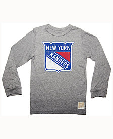 Retro Brand Men's New York Rangers Primary Mock Twist Long Sleeve T-Shirt