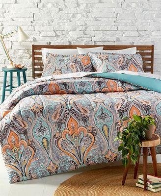 alex reversible comforter sets - bed in a bag - bed & bath - macy's