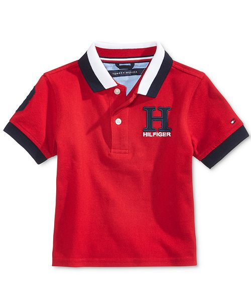 4185865a12812c Tommy Hilfiger Baby Boys H Cotton Polo Shirt   Reviews - Shirts ...