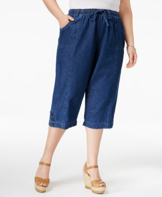 Image of Karen Scott Plus Size Capri Pants, Only at Macy's