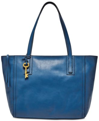 Image of Fossil Emma Leather Tote