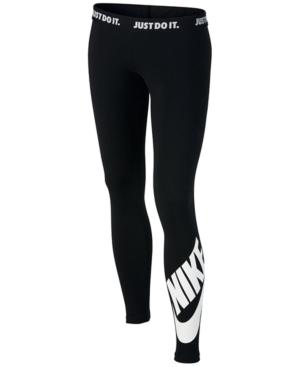 Nike Logo Graphic Leggings Big Girls (716)