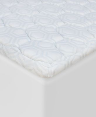 "Luxury iCOOL 1.5"" Gel-Infused Memory Foam Twin Mattress Topper"