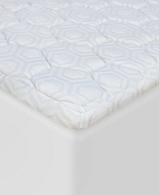 "SensorGel® Luxury iCOOL 1.5"" Gel-Infused Memory Foam Queen Mattress Topper"