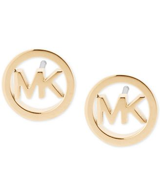Michael Kors Logo Stud Earrings