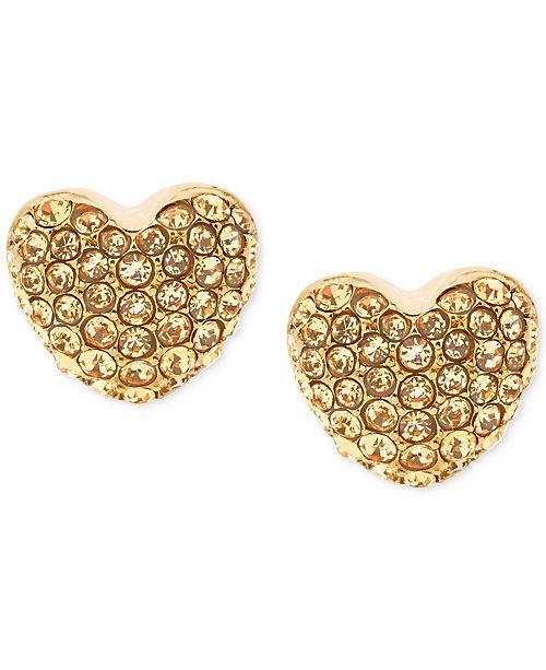 ab395eb661ac Michael Kors Pavé Heart Stud Earrings   Reviews - Fashion Jewelry ...