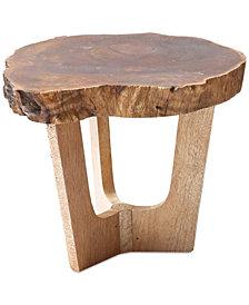 Round Madre De Cacao Wood Pedestal