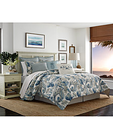 CLOSEOUT! Tommy Bahama Home Raw Coast Cotton Queen 3-Pc. Duvet Cover Set