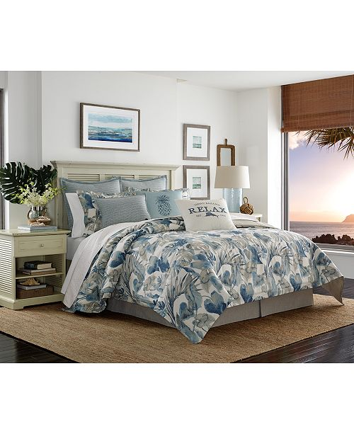 Tommy Bahama Home CLOSEOUT! Raw Coast Cotton Queen 3-Pc. Duvet Cover Set