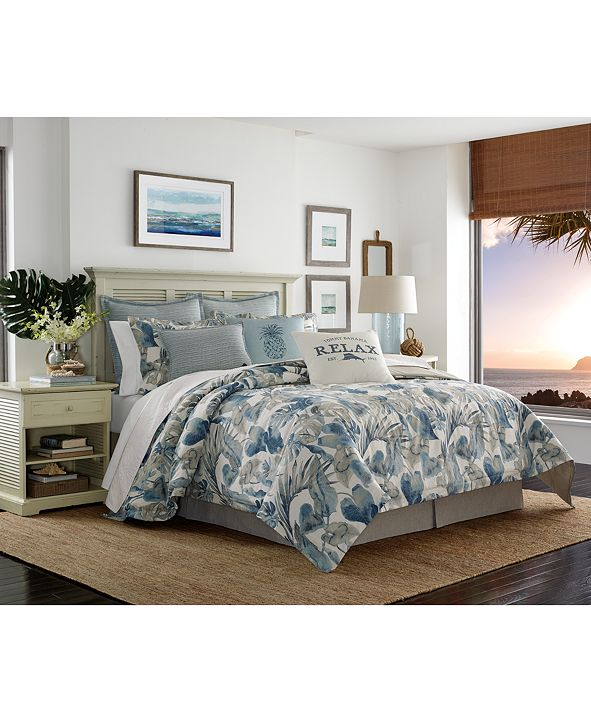 Tommy Bahama Home  Raw Coast Cotton Queen 3-Pc. Duvet Cover Set