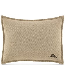 """CLOSEOUT! Tommy Bahama Home Canvas Stripe 12"""" x 16"""" Decorative Pillow"""