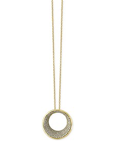 EFFY® Diamond Circle Pendant Necklace (1-9/10 ct t.w.) in 14k Gold or Rose Gold