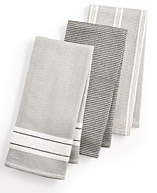 3-Pc. Waffle Weave Kitchen Towels, Created for Macy\'s