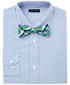 Tommy Hilfiger 2-Pc. Stripe Shirt Shirt & Bow Tie Set, Big Boys (8-20)