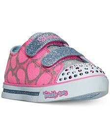 Skechers Toddler Girls' Twinkle Toes: Shuffles - Glitter Heart Sneakers from Finish Line
