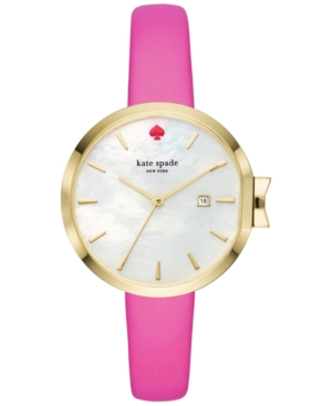 Kate Spade Watches KATE SPADE NEW YORK WOMEN'S PARK ROW BOUGAINVILLEA PINK LEATHER STRAP WATCH 34MM KSW1268