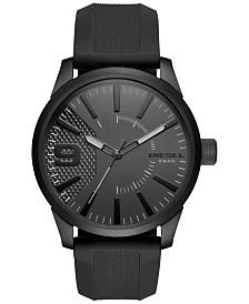 Diesel Men's Black Silicone Strap Watch 46x53mm DZ1807