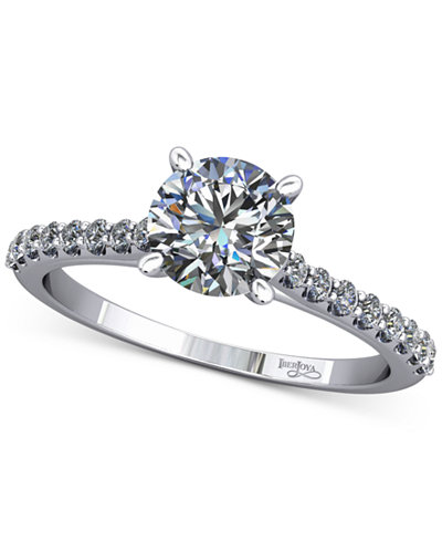 Diamond Accented Cathedral-Style Mount (1/5 ct. t.w.) in 14k White Gold
