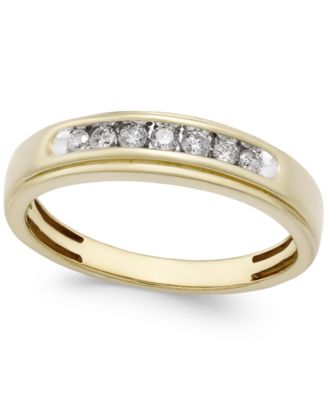 Men's Diamond Band (1/4 ct. t.w.) in 10k Gold