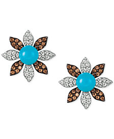 Le Vian® Multi-Gemstone Flower Stud Earrings (8-3/8 ct. t.w.) in 14k White Gold