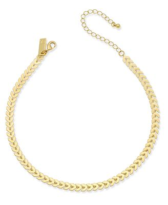 INC International Concepts Gold-Tone Chevron Chain Choker Necklace, Only at Macy's