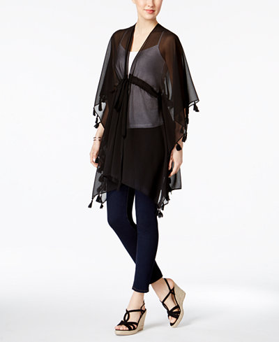 INC International Concepts Tassel Kimono & Cover-Up, Created for Macy's