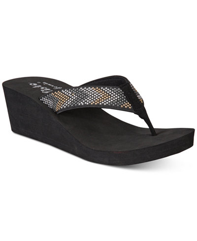 Callisto Jester Thong Platform Wedge Sandals, Created for Macy's