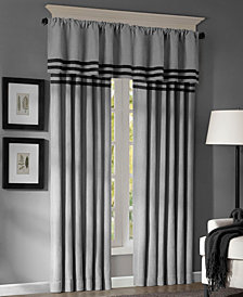 Madison Park Dune Microsuede Stripe Window Panel Pair and Valance Collection