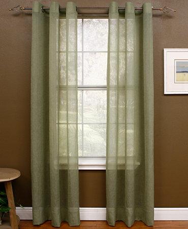 Miller curtains sheer preston grommet 48 x 108 panel for 108 window treatments