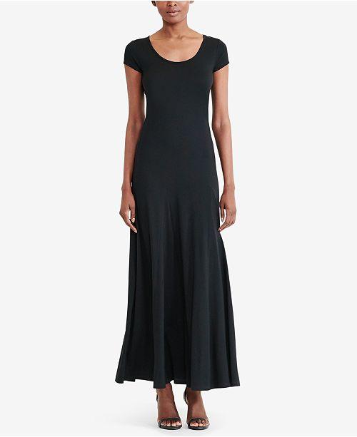 c8aaf93b20f Lauren Ralph Lauren Jersey Scoop Neck Maxidress   Reviews - Dresses ...