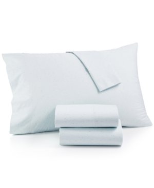 Whim by Martha Stewart Collection SpaceDye 4Pc Queen Sheet Set 200 Thread Count 100 Cotton Created for Macys Bedding