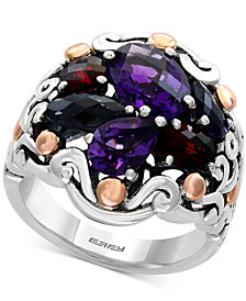 EFFY® Balissima Multi-Gemstone Ring (4-1/2 ct. t.w.) in Sterling Silver and 18k Rose Gold