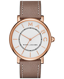 Marc Jacobs Women's Roxy Cement Leather Strap Watch 36mm