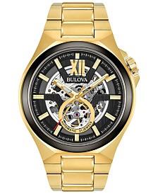 Bulova Men's Automatic Gold-Tone Stainless Steel Bracelet Watch 46mm 98A178