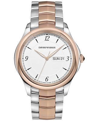 Emporio Armani Men's Swiss Automatic Esedra Two-Tone Stainless Steel Bracelet Watch 43mm ARS8603