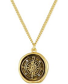 Gold-Tone Compass Pendant Necklace