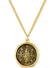RACHEL Rachel Roy Gold-Tone Compass Pendant Necklace
