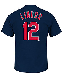 Majestic Men's Francisco Lindor Cleveland Indians Official Player T-Shirt