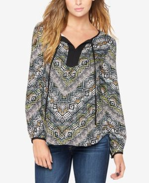 MATERNITY PRINTED BLOUSE