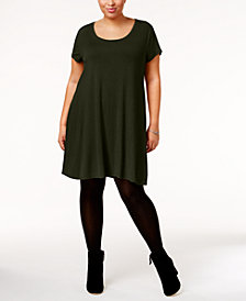Style & Co Plus Size Short-Sleeve Swing Dress, Created for Macy's