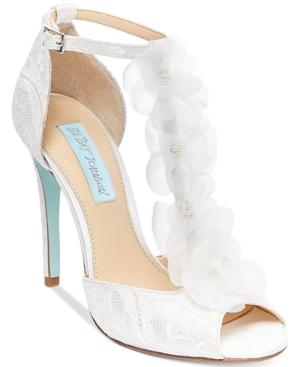 Blue By Betsey Johnson Sadie Tulle Floral Evening Sandals Women