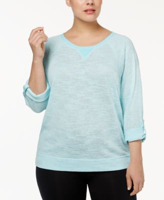 Calvin Klein Performance Plus Size Dolman-Sleeve Tunic