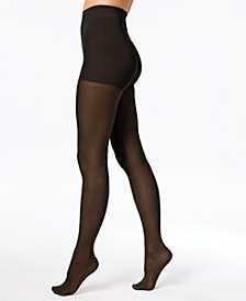 Women's   Perfect Nudes Run Resistant Girl-Short Tummy-Control Micro Net Pantyhose Sheers