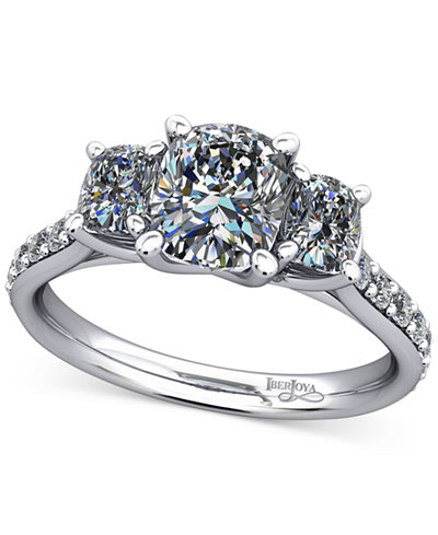 Diamond Shoulder and Accent Stone Mount Setting (1/2 ct. t.w.) in 14k White Gold