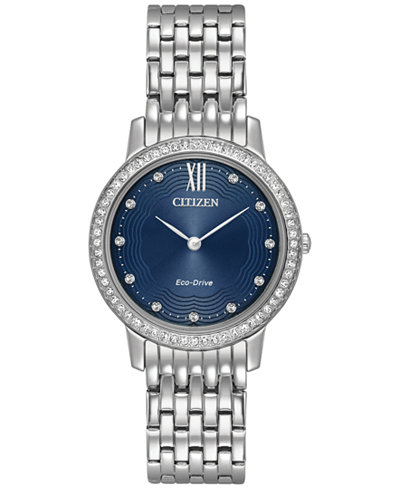 Citizen Eco Drive Womens Silhouette Crystal Jewelry