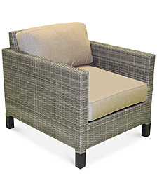 North Port Wicker Outdoor Club Chair, with Sunbrella® Cushion, Created for Macy's