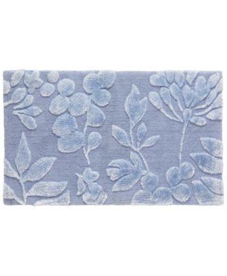 """Fleur 21"""" x 34"""" Cotton Bath Rug"""